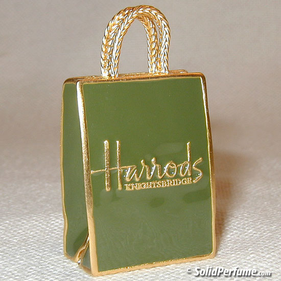 Harrod's Shopping Bag in Green & Gold | Shopping Bags | Pinterest